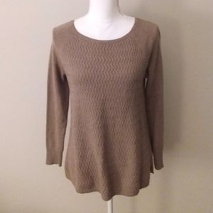 Ann Taylor Loft Brown Cable Knit Sweater Size Sm